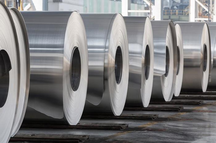 aluminium-rolle